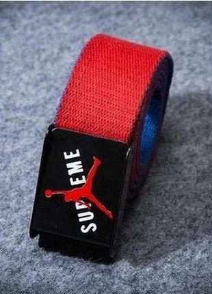Ремень пояс supreme 110см jordan collection красный