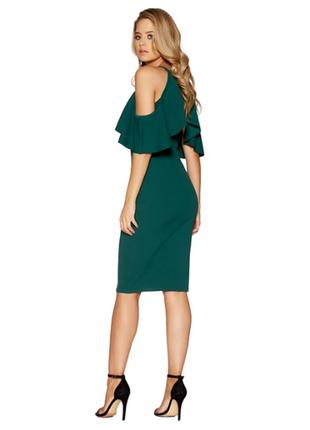 Cтильное платье бутыльного цвета / гарна сукня трендовогоо кольору