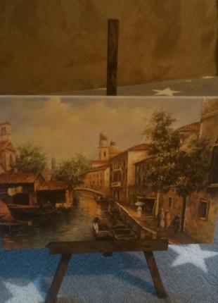 Красивая картинка на подставке старая венеция италия