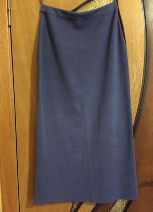 Сиреневая юбка миди за колено / карандаш 14-16uk