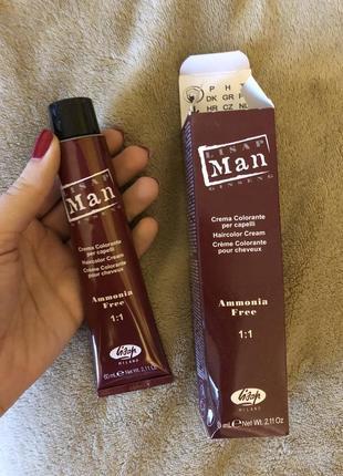 Краска для бороды lisap man