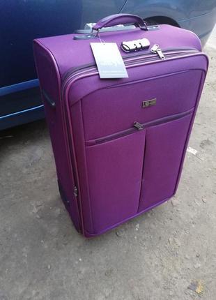 Турецкий world travel чемодан дорожный на 2х колёсах для авиа