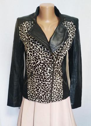 Куртка женская демисезонная кожаная косуха autograph by m&s