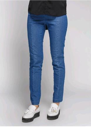 Базові джинси на резинці висока посадка