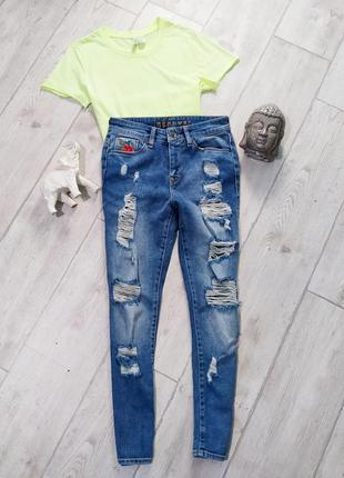 Укороченные mom мом джинсы