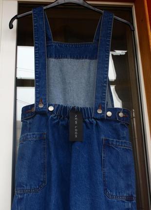 Джинсовый, комбинезон, сарафан, комбінезон, кюлоты, джинсовий, синий