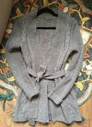 Кардиган тёплый шерстяной, кофта зимняя теплая