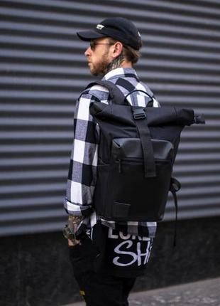 Роллтоп городской рюкзак мужской x-roll черный