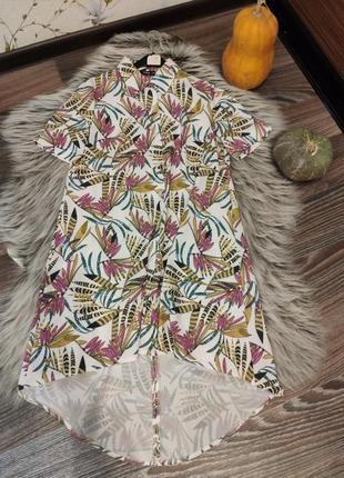 Платье свободного кроя с ассиметричной спинкой s/m 44