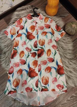Платье ассиметричного свободного кроя
