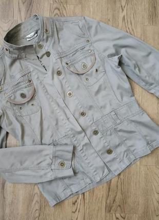 Куртка котоновая блейзер пиджак жакет джинсовка хаки