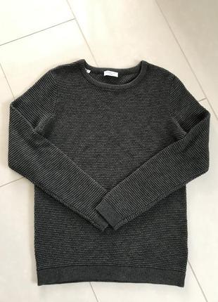 Пуловер мужской плотной вязки стильный selected размер l