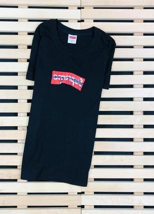Супер крутая мужская футболка supreme x comme des garcons размер s