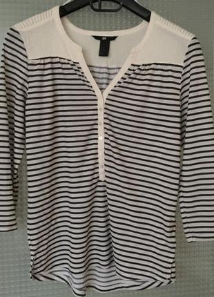 Блуза кофта  тельняшка h&m