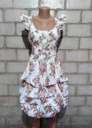 Винтажное платье баллон бохо этно стиль