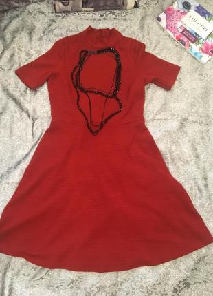 Терракотовое платье м&s