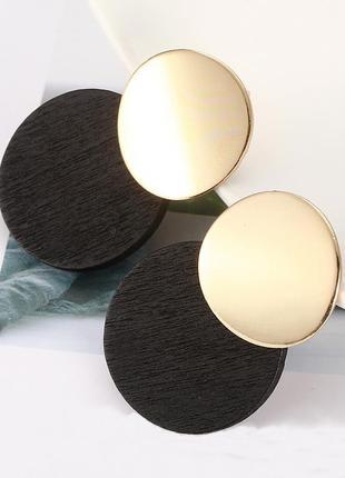Серьги. модные металлические деревянные серьги под золото