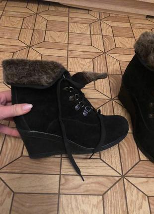 Ботинки тёплые, чёрные