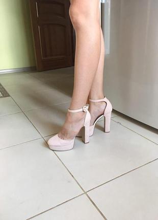 Туфли topshop кремово-бежевого цвета