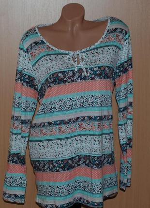 Принтованая блуза бренда john baner
