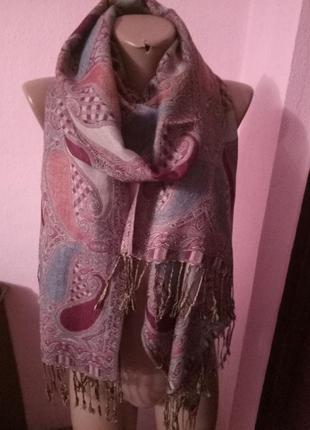 Шаль/шарф в пастельных тонах