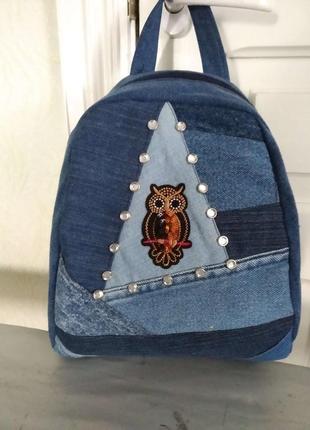 Джинсовый рюкзак