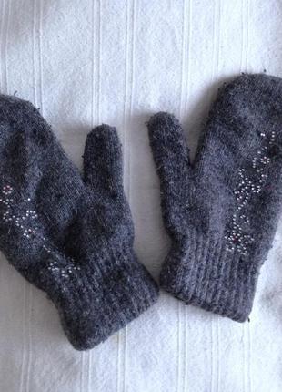 Теплі подвійні варежки рукавиці