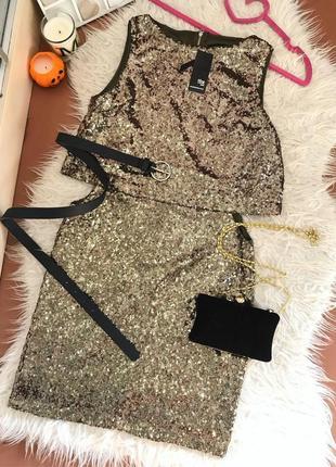 Новое золотистое платье в пайетку 🔥🔥🔥