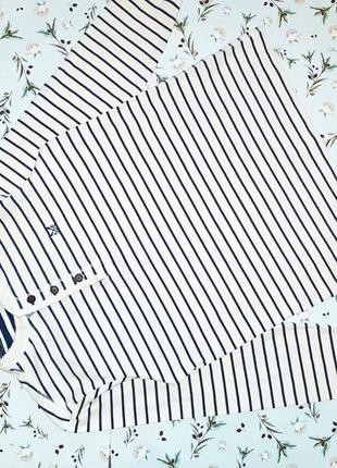 Стильный белый свитер в полоску crew, размер 44 - 46, дорогой бренд