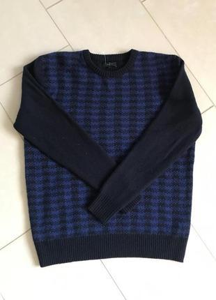 Пуловер шерстяной мужской стильный jasper conran размер l