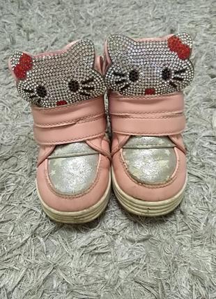 Ботинки сникерсы детские hello kitty