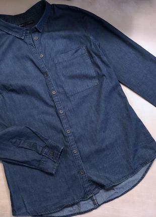 Классная качественная джинсовая рубашка house