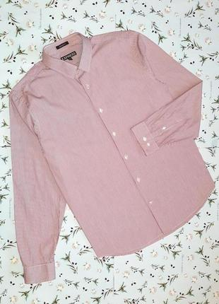 Стильная модная рубашка в полоску express, цвет бордо, размер 52 - 54