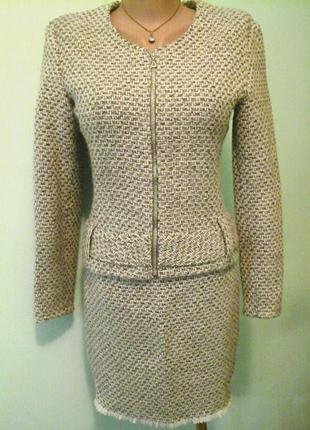 Шерстяной костюм, пальтовая ткань
