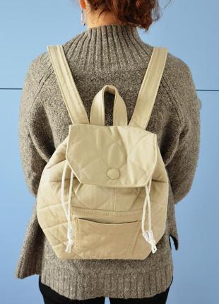 Бежевый джинсовый рюкзак (ручная работа!)