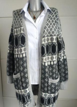 Теплый шерстяной кардиган  cynthia rowley класса люкс с карманами