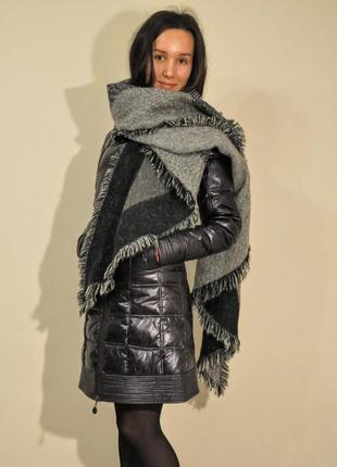 Пуховик-пальто без капюшона