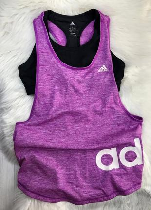 Майка лиф adidas, комплект 2-ка adidas, топ adidas, майка