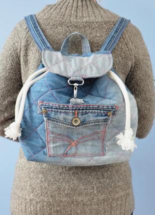 Джинсовый рюкзак (ручная работа!)