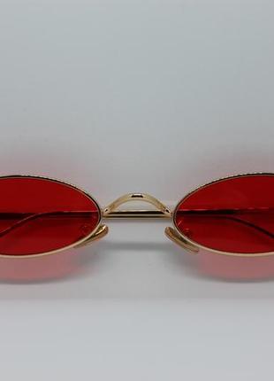 Узкие овальные солнцезащитные очки aooffiv