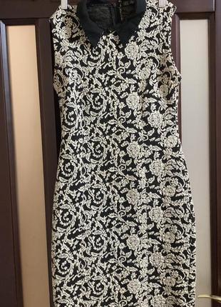 Платье, черно-белое платье, платье dilvin