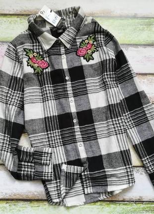 Рубашка в клетку сорочка в клеточку для девочки