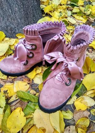 Ботинки осенние женские на молнии