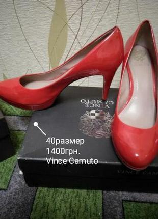 Туфли красные vince camuto 40р.