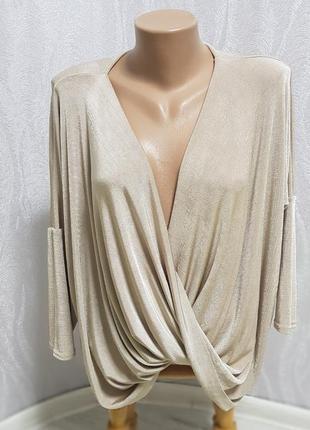Нарядна, вечерняя шикарна блуза, кофта подовжена