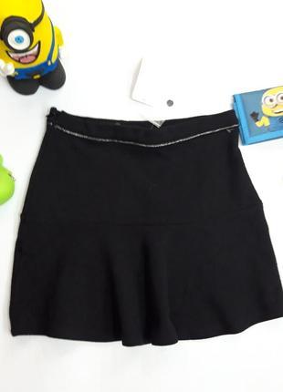 Черная юбка, можно в школу на 9-10 лет kiabi