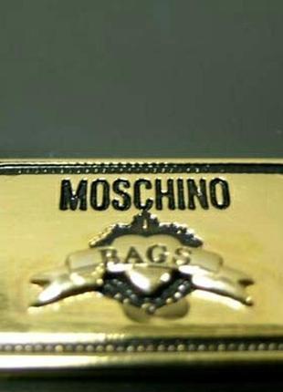 Кожаная сумка от moschino