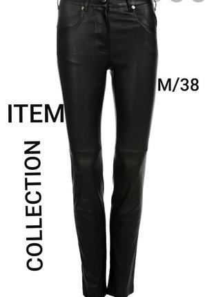 Item collection object m/38 крутые черные кожаные брюки, штаны