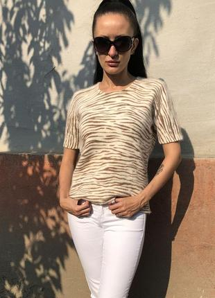 Тигровая ангоровая кофточка alba moda