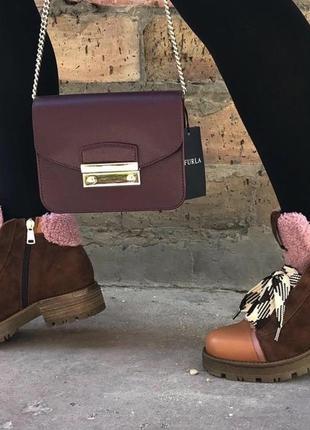 Итальянские ботинки roberto serpentini 36 и 38 р camel карамельные